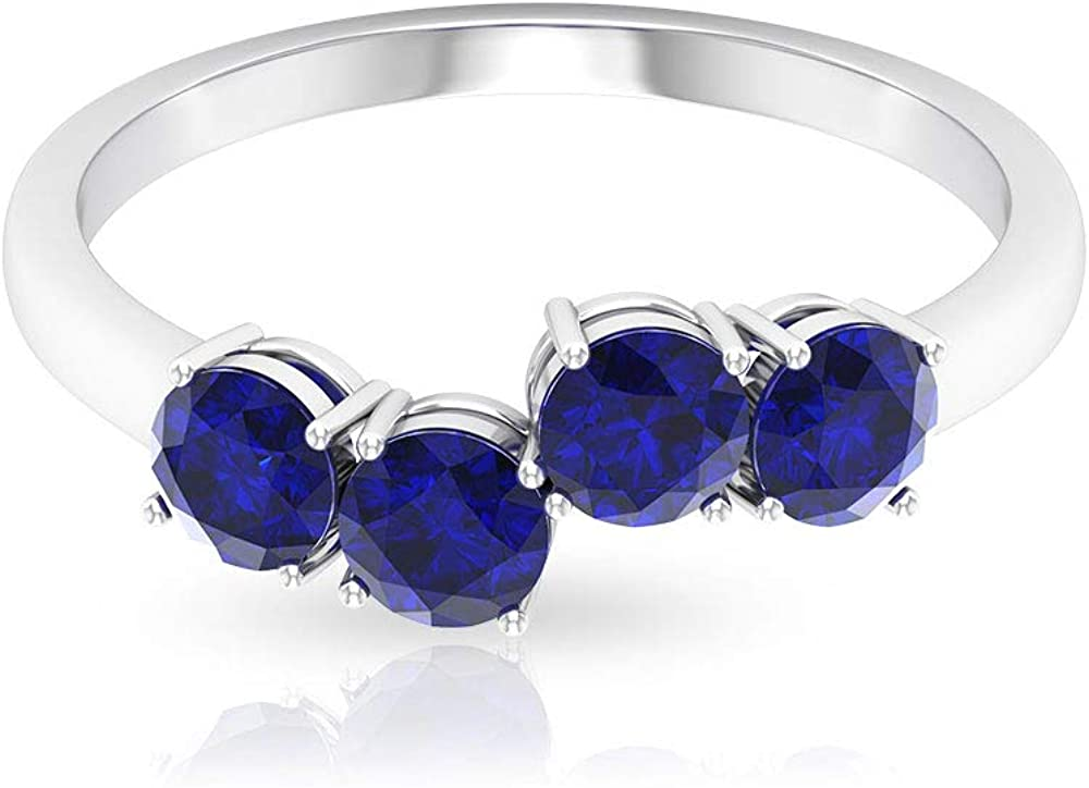 safety 1.50 CT Lab 2021 new Created Blue Sapphire Ring Stackable Promise Dainty