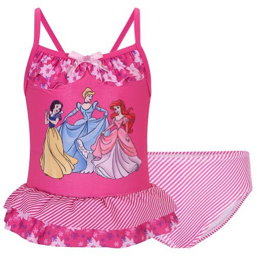Disney Store Princess Swimsuit Size XS 4: Snow White, Cinderella and Ariel