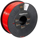 Amazon Basics - Filamento per stampanti 3D, in ABS, 1,75 mm, rosso, 1 kg per bobina