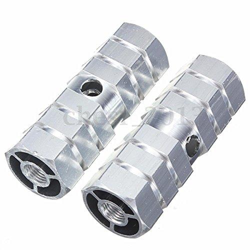 Tianu Par de Pinzas de pie para Bicicleta aleaci/ón de Aluminio Pedal de Bicicleta con Cilindro Sexangle Apto para Ejes Delanteros o Traseros