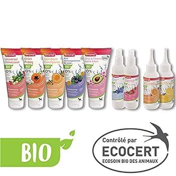 Beaphar – SHAMPOING Bio ECOCERT Démêlant 2 en 1 pour Chien – Contient de l'Aloe Vera, de l'huile d'Argan et de l'abricot Bio – Prêt à l'emploi – 200 ML