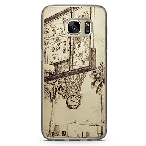 Vintage Basketball - Hülle für Samsung Galaxy S7 - Motiv Design Cool - Cover Hardcase Handyhülle Schutzhülle Case Schale