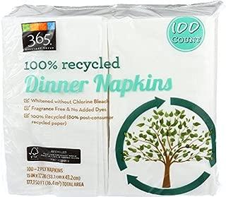 365 Everyday Value, Dinner Napkin, 100 ct