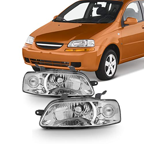 For 2004 2005 2006 2007 Chevy Aveo Aveo5 Hatchback Models Left+Right Side Headlights Headlamp Pair