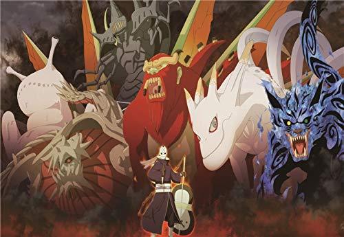 LKJHGU Kein Rahmen Klassisch Naruto Sasuke Anime Dragon Ball Z Cartoon Comic Bild Kinderzimmer Dekor Wohnzimmer Poster Wandkunst Leinwand Gemälde 70 * 105cm J.