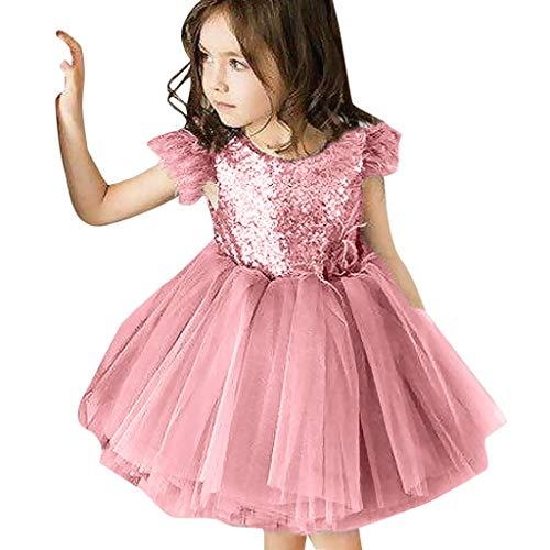 FRAUIT Vestito Carnevale Bambina Vestiti Bambino Cerimonia Eleganti Abito Battesimo Neonato Abiti Damigella Bimba Vestiti Bambini Principessa Tulle Paillettes Bambina Abbigliamento Ballerine