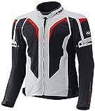 Held Zelda sportliche Motorrad Textiljacke, Farbe grau-rot, Größe L