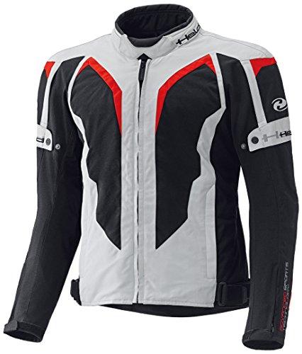 Held Zelda sportliche Motorrad Damenjacke, Farbe grau-rot, Größe D2XL