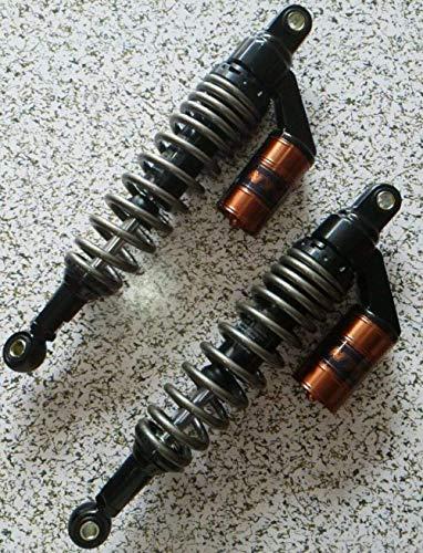 Amortiguador de Motocicletas 340mm 350mm 360mm 8mm Amortiguador Universal Ajuste para Yamaha/Suzuki/Kawasaki/Bicicletas de Suciedad/GOKART/ATV/Motocicletas y Quad.Motorcycle Bock Trasero B
