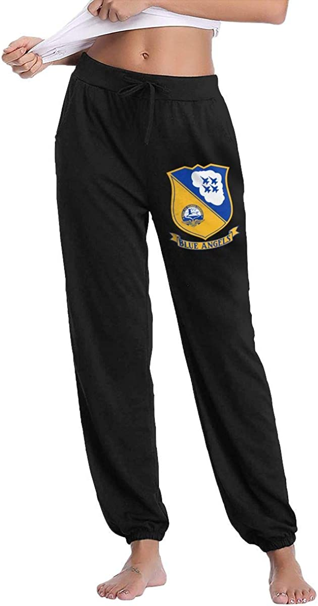 Us Navy Surface Warfare Officer Women's Comfy Casual Pants, Lounge Long Sweatpants Classic Drawstring Trousers with Pockets