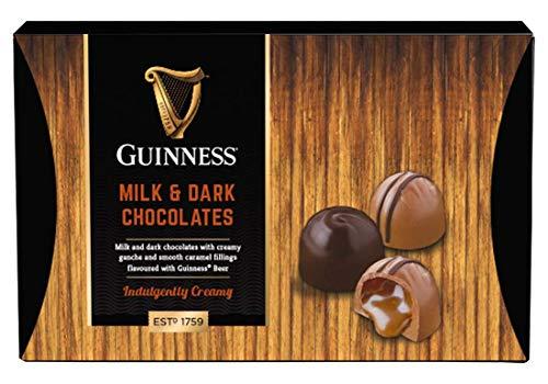 Guinness Luxus Milch- und dunkle Schokolade Trüffel Kuppeln verschiedene Sorten 90g