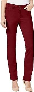Charter Club Women's Lexington Straight-Leg Jeans, Maroon, 16
