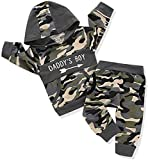 Toddler Infant Baby Boys Camouflage Clothes Daddy's Boy Long Sleeve Hoodie Camo Sweater Top Pants Fall Winter Outfit Set (2-3T,Daddy's Boy)