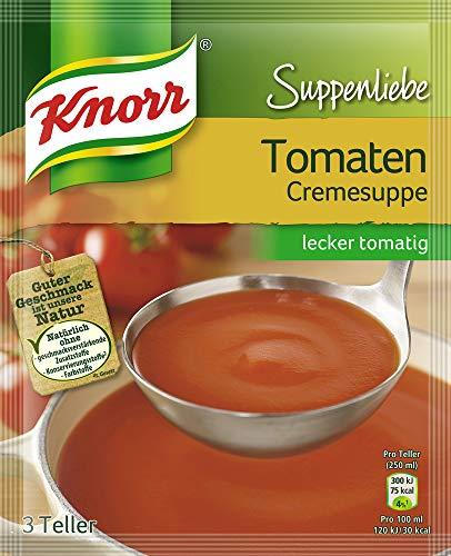 Knorr Suppenliebe Tomatencreme Suppe, 9 x 3 Teller (9 x 62 g)