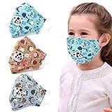 Justdolife 3 STÜCKE Kinder Mundschutz Atmungsaktiv Warme Anti-Staub Mund Abdeckung Halbe Gesichtsschutz