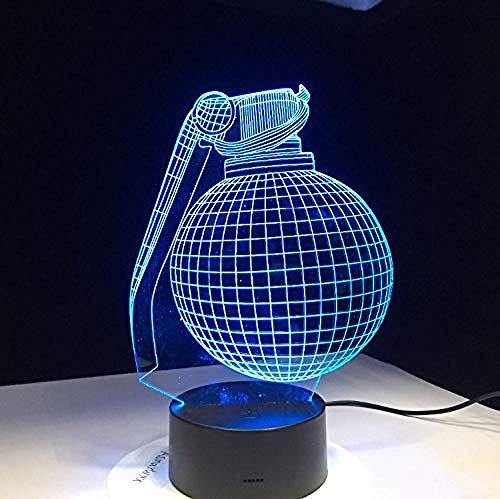 Lámparas de ilusión óptica 3D LED Lámpara de luz nocturna 7 colores Escritorio Battle Royale Regalo para novio Gamer Hijo Nieto Decoración de cumpleaños Led