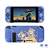 [Pro Version] Case for Nintendo Switch, FANPL Protective Case Cover for Nintendo Switch and Joy Con Controller with 2 Cat Claw Thumb Grips (Starry Sky)