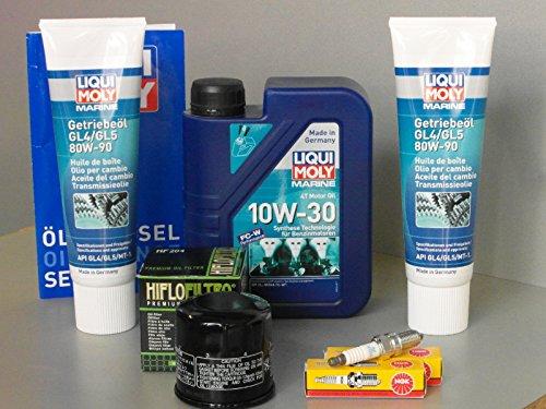 Wartungsset Mercury 20 EFI mit Öl und Zündkerze Getriebeöl Ölfilter ab 2008