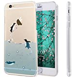 iPhone 6S Plus Case,NSSTAR iPhone 6S 6 Plus TPU Case,[Perfect Fit] Soft TPU Crystal Clear [Scratch Resistant] Ocean Park Playing Water Swimming Penguin Back Case Cover for Apple iPhone 6S /6 Plus 5.5'