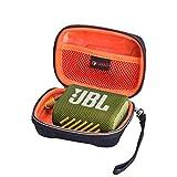 XANAD Hartschalen-Schutzhülle für JBL GO3 GO 3 Bluetooth-Lautsprecher, Reise-Tragetasche, Aufbewahrungstasche (außen schwarz innen orange)