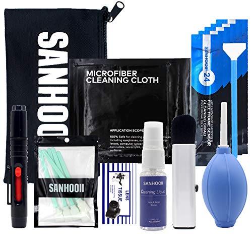 SANHOOII Camera Cleaning kit for DSLR or SLR Cameras Lens Cleaning and Full Frame Sensor Cleaning