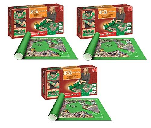 Pack 3 Puzzle Roll 2000. Tapete Universal para Transportar/Guardar Puzzles hasta 2000 Piezas. Jumbo 01012