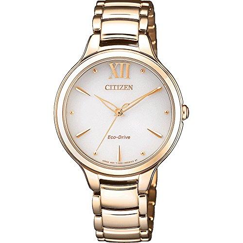 CITIZEN Analog White Dial Women's Watch-EM0553-85A