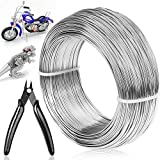 18 Gauge Aluminum Wire Jewelry Making, 328 FT Metal Wire Armature Bendable Wire Craft for Bonsai Trees, Sculpting, DIY Crafts Beading Floral (Silver, 1 mm Thickness)