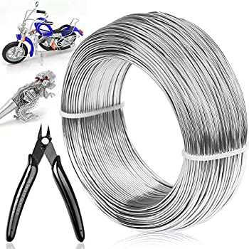 18 Gauge Aluminum Craft Wire Jewelry Making 328 FT Metal Wire Armature Bendable Wire for Bonsai Trees Sculpting DIY Crafts Beading Floral  Silver 1 mm Thickness