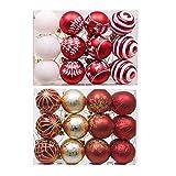 Decoraciones de la bola de Navidad Hermosos adornos de bola de Navidad Patrones pintados 2 Conjuntos de 24 PC / SET BOLAS DE NAVIDAD 6cm Bolas de decoración de árboles de Navidad para el árbol de navi