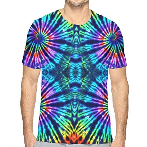 Tie Dye Perfection T-shirt voor heren, korte mouwen, print