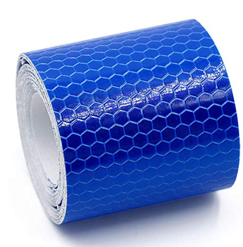 Reflective Tape 5300cm Car Styling Safety Warning Material Motorcycle Cycling Car Stickers For Renault Ford Toyota Bmw Vw Lada (Blue)