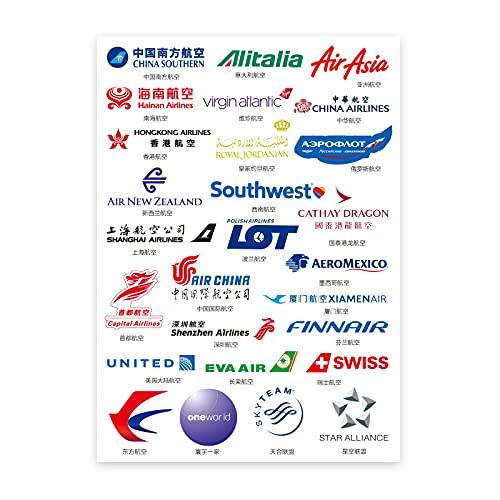 BUCUO Etiquetas engomadas del Equipaje de la aerolínea Etiquetas engomadas Personalizadas de la Maleta de la Carretilla del Ordenador portátil Impermeable