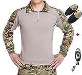 H mundo UE Taktisches caza militar Langarm Shirt con Pads Ellenbogen, color Multicámara, tamaño xx-large
