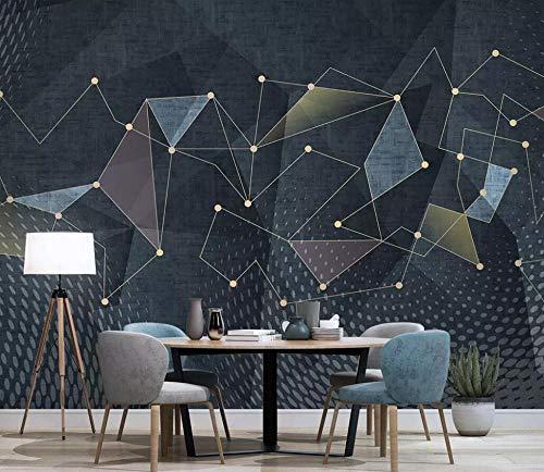 Fototapete 3D Tapete Einfache Geometrische Linien Sind Extravagant Tapeten Vliestapete 3D Effekt Wandbild Wanddeko Wandtapete,200x140cm
