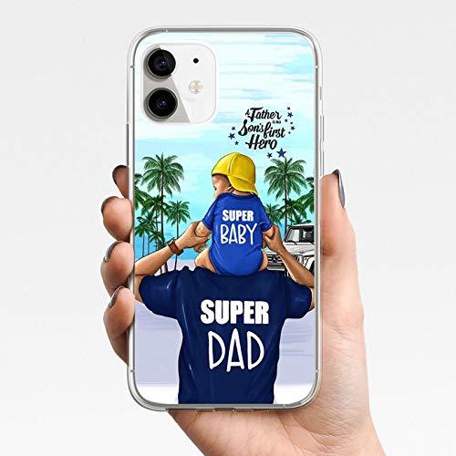 KBFHD Fundas de teléfono Super mamá para iPhone 11 Funda para iPhone 11 Pro XR 7 X XS MAX 8 6 6S Plus 5 5S SE 2020 Funda Funda de Silicona