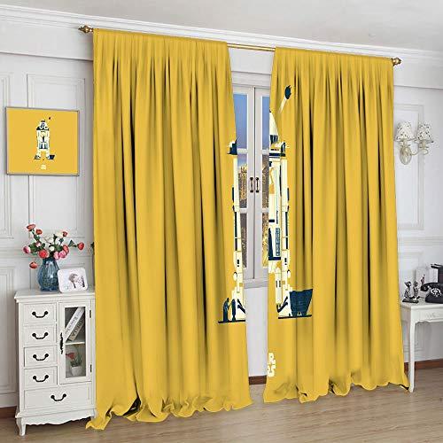 Cortinas transparentes Star Wars The Force Awakens para dormitorio infantil cortinas para dormitorio (72 x 63 cm)