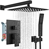 Rainfall Shower System Matte Black with High Pressure 10 inch...