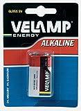 Velamp 6LR61/1BP Blíster de 1 Pila alcalina 6LR61 Transistor 9 V, Rojo