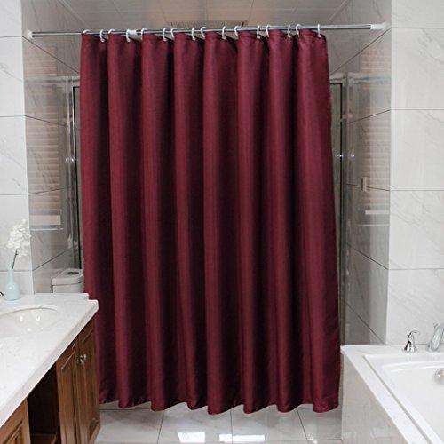 LI LI NA SHOP Duschvorhang, umweltfre&liche Polyester wasserdichte Form 180 * 200cm (Weinrot) (Size : 80 * 200cm(31 * 79inch))