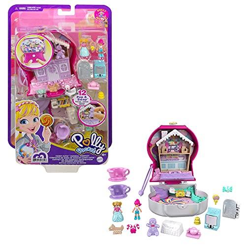 Polly Pocket GTN23 - Maszyna do żucia gumy, 2 lalki, 5 niespodzianek, 13 akcesoriów, lalka + funkcja zamiany, od 4 lat