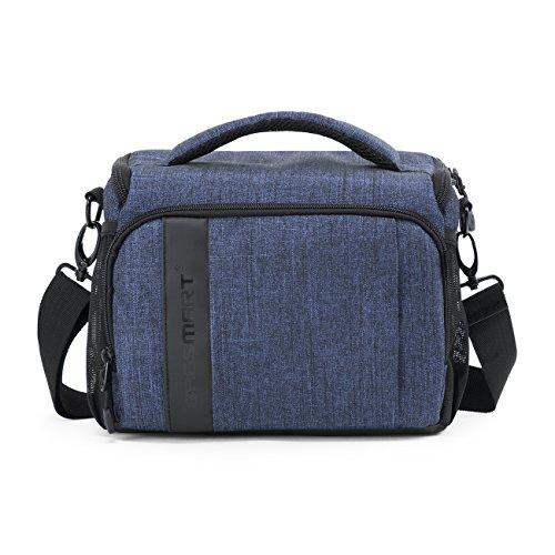 BAGSMART Kameratasche Spiegelreflex DSLR SLR Fototasche für Spiegelreflexkamera Systemkamera Objektive Zubehör mit Regenschutzhülle Blau