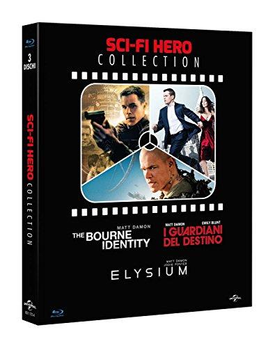 sci-fi hero collection (3 blu-ray) - the bourne identity - i guardini del destino - elysium box set