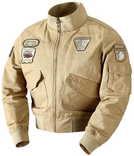 Heren klassiek herfst katoen luchtwapen bomberjack mantel comfortabele maten licht buiten gevecht vliegenjack heren katoenen jas kleding