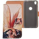 Lankashi PU Flip Leder Tasche Hülle Hülle Cover Schutz Handy Etui Skin Für Alcatel Shine Lite 5080X 5 Wing Girl Design