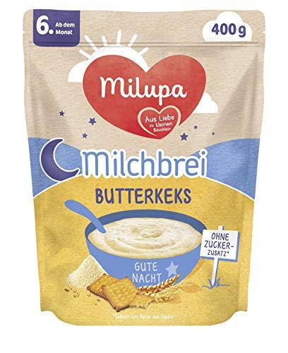 Milupa Milchbrei Butterkeks Gute Nacht ab dem 6. Monat, 4er Pack (4 x 400 g) 154159
