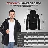 CONQUECO Herren Beheizte Jacken Wasserdicht Winddicht warm Softshell Winterjacke mit Akku und Ladegerät zum Outdoor Arbeiten - 3