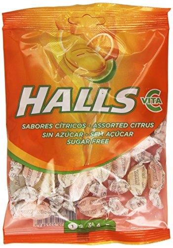 Halls - Sabores Cítricos - Caramelos sin azúcar con vitamina C - 100 g