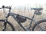 System-S portautensili da Smartphone cellulare custodia per Telaio per bicicletta colore Nero rettangolare Tre asta