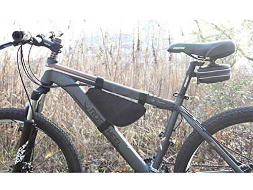System-S Fahrradtasche Werkzeugtasche Smartphone Handy Tasche für Fahrradrahmen Stange dreieckig Schwarz